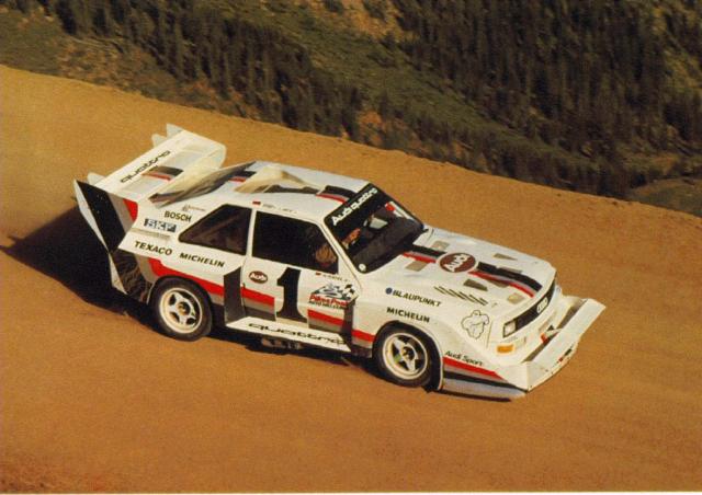 audi sport quattro s1 pikes peak 1987 rally group b shrine